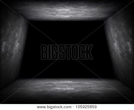 empty interior with hole background