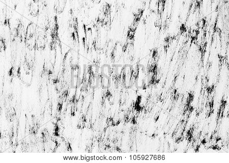 Texture Background Of Brushwork That Is Similar The Sea , Black And White.