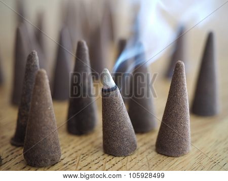 Incense cone smoking