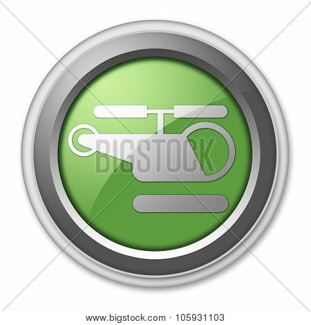 Icon, Button, Pictogram Heliport