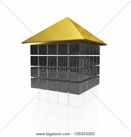 Metal Steel Block House