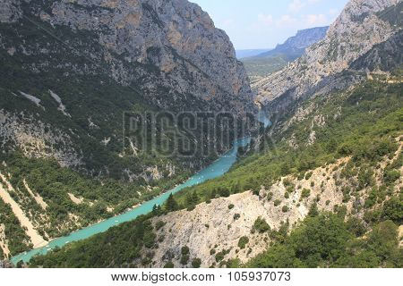 Gorge du Verdon in Provence in France poster