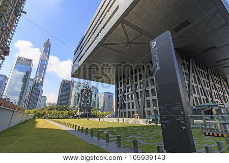 Shenzhen, China - August 19,2015: Shenzhen Skyline As Seen From The Stock Exchange Building With The