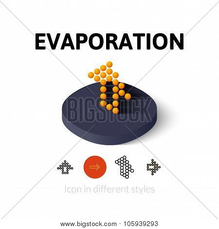Evaporation icon in different style