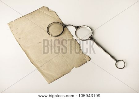 Old pince-nez
