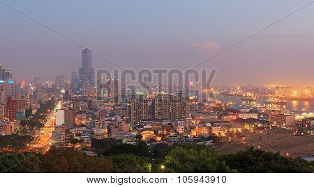 Kaohsiung Skyline By Night