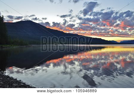 Dawn On A Lake In The Putorana Plateau.