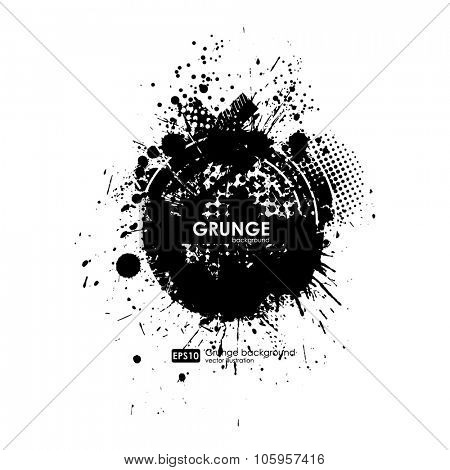 Splatter Background. Black Ink Splats. Spray Paint Splatters. Vector Paint Splats. Blots and Splashes. Grunge Ink Stains. Distress Vector Stains for Grunge Effects. Ink Splats for Design Use.