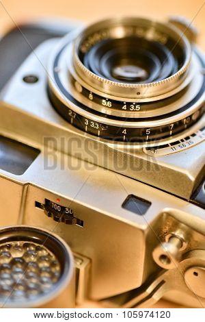 A vintage 35mm rangefinder Camera