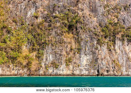 Thailand Rock Wall