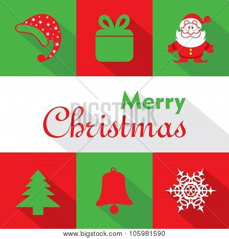 Illustration of Christmas Celebration symbols stock vector