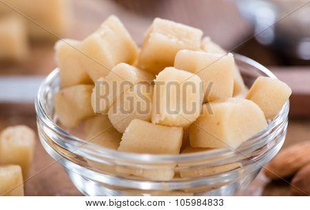 Marzipan With Almonds (close-up Shot)