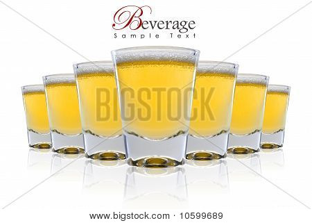 A Raw Of Beer With Copy Space