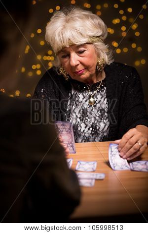 Woman At Fortune Telling Salon