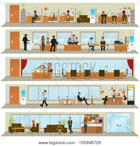 workday in an office building