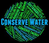 Conserve Water Meaning Liquid Aqua And Conserves poster