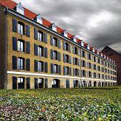 Larsens Plads in Copenhagen Denmark. Cloudy october midday. poster