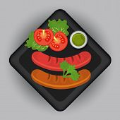 Food and gastronomy graphic design, vector illustration. poster