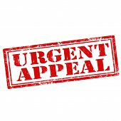 Grunge rubber stamp with text Urgent Appeal,vector illustration poster