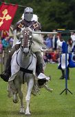 Knights jousting warwick castle England uk poster
