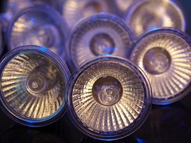 Halogen Bulbs in blue light
