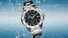 Wrist Watch Is Splashing In Water