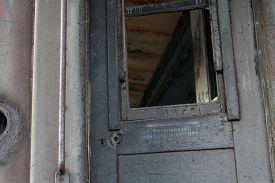 Abandoned Train Door