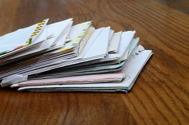 Old Mail : Letters And Envelope