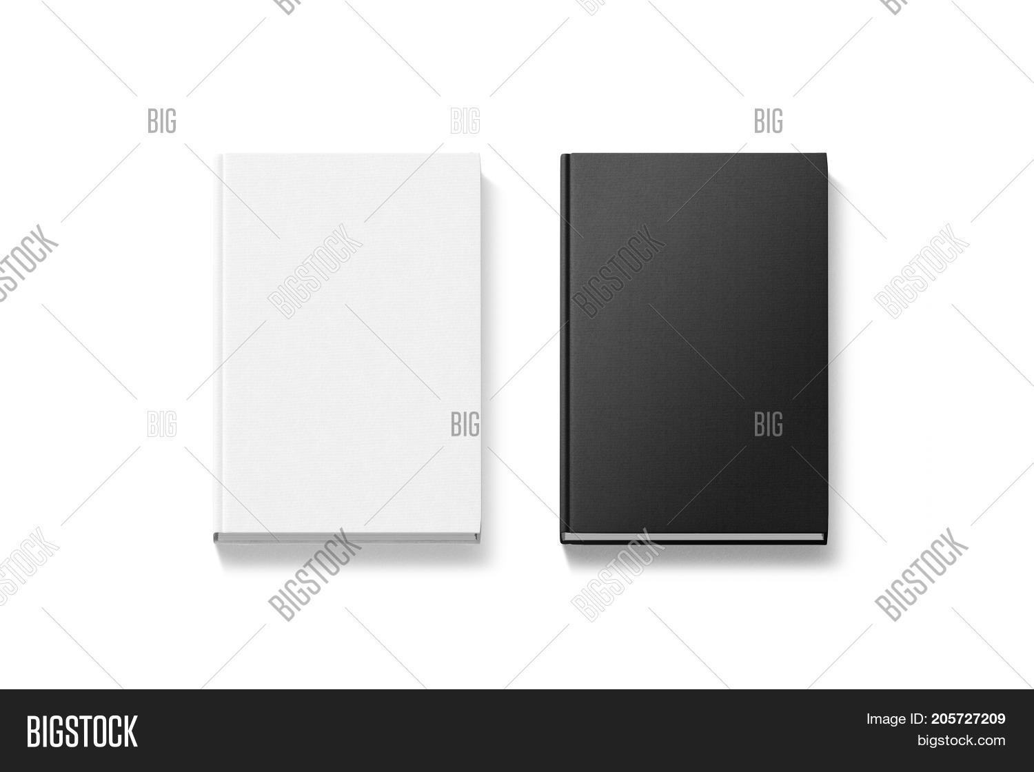 Blank black white image photo free trial bigstock blank black and white hardcover books mock ups top view 3d rendering empty notebook cover maxwellsz