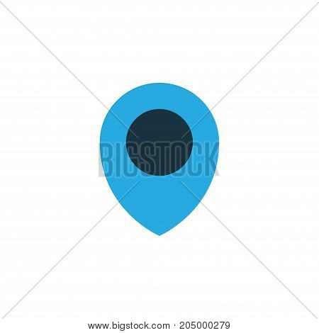Premium Quality Isolated Map Pin Element In Trendy Style.  Location Colorful Icon Symbol.
