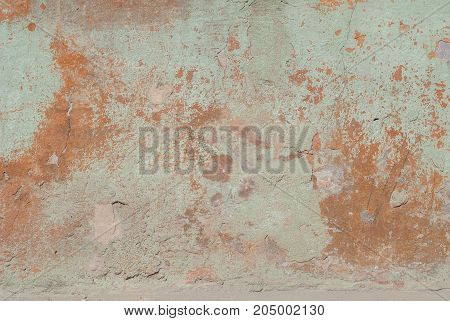 old plaster wall, chipped paint, landscape style, texture background