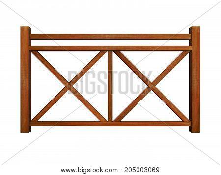 Ipe design wood railing 3d render model