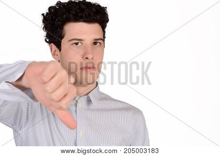 Man With Thumb Down.
