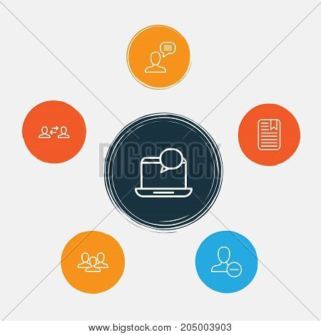 Communication Icons Set. Collection Of Connect, Unity, Business Exchange And Other Elements