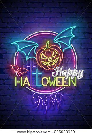 Happy Halloween Greeting Card Template