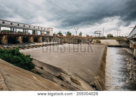 Hydro electric Electricity power plant  - powerplant in Adygeya, Russia