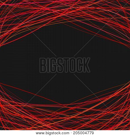 Abstract geometrical background with arched stripes at the top and the bottom - vector design