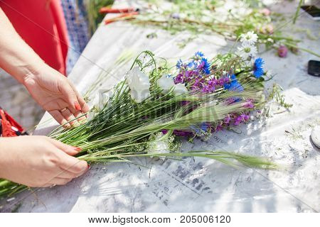 Learning Flower Arranging, Making Beautiful Bouquets With Your Own Hands. Master Class On Making Bou