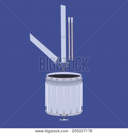 Vector illustration of scottish tenor drum, musical instrument used within Scottish pipe bands.