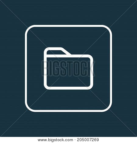 Premium Quality Isolated Folder Element In Trendy Style.  Dossier Outline Symbol.