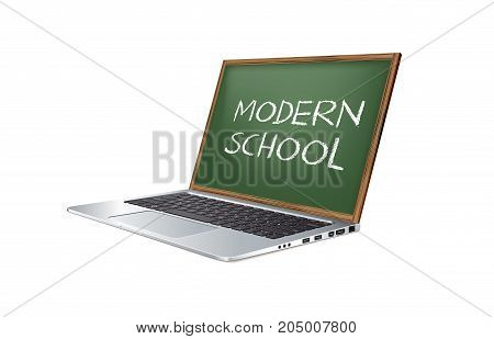 Modern teaching methods  elearning concept - computer screen as blackboard