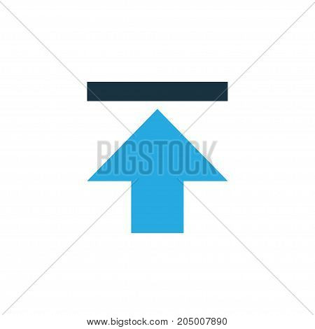 Premium Quality Isolated Upload Element In Trendy Style.  Download Colorful Icon Symbol.