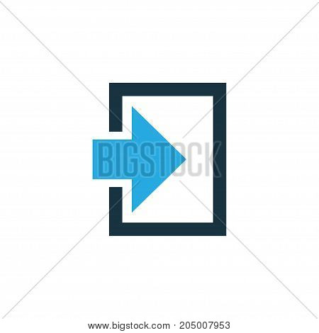 Premium Quality Isolated Entrance Element In Trendy Style.  Log In Colorful Icon Symbol.