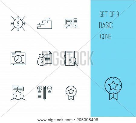 Project Icons Set. Collection Of Growth, Board, Analysis And Other Elements