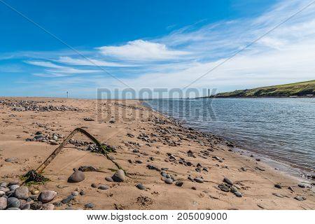 Montrose beach estuary and the River South Esk.