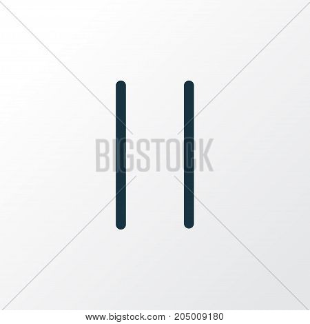 Premium Quality Isolated Stop Element In Trendy Style.  Pause Outline Symbol.