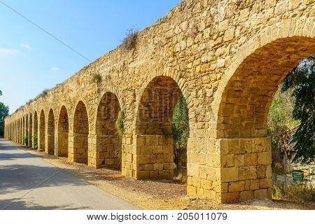 Old Aqueduct Of Acre (akko)
