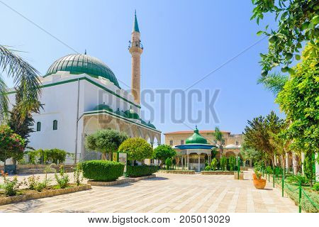 El-jazzar Mosque (the White Mosque) In Acre (akko)