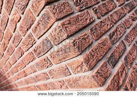 Red brick wall background. Horizontal Wide Brickwall Background. Grungy Red Brick Blank Wall Texture. Retro House Facade.