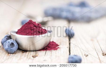Blueberry Powder, Selective Focus
